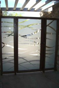 Glass Gate Carved and Etched Art Deco Modern back by Sans Soucie