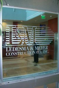 Sans Soucie Glass Signs Carved and Painted Ledesma and Meyer Construction