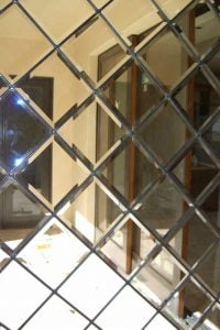 etched glass traditional style geometric shapes beveled lattice sans soucie