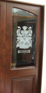 Sans Soucie Butlers Pantry Doors with Etched and Craved Glass