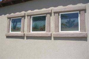 glass window etched glass designs rustic style foliage cactus desert colors ll sans soucie