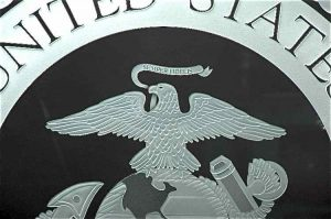 Craved Etched Glass Signs U.S. Marine Corps Seal by Sans Soucie