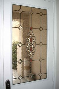 glass window etched glass traditional decor geometric patterns golden bevel clusters sans soucie