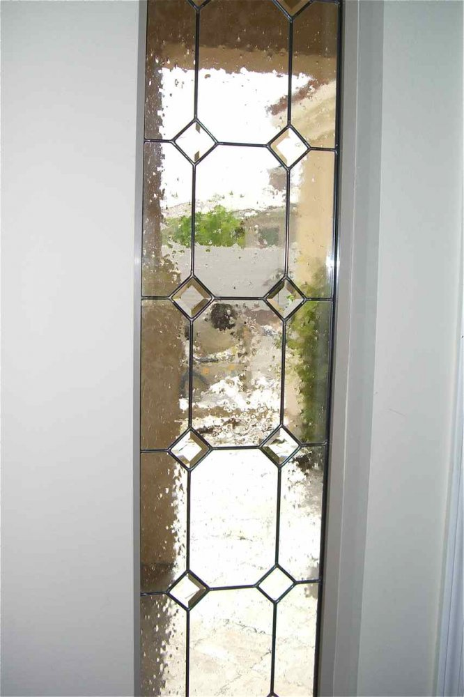Gdn Bvl Cltrs Glass Window Leaded Glass Traditional Decor