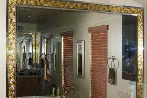 Custom Craved and Painted Etched Glass Mirrors Fragments Border by Sans Soucie