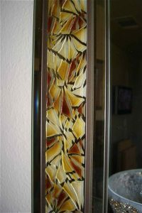 Painted and Craved Etched Glass Mirrors Fragments Border by Sans Soucie