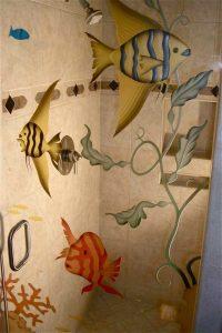 painted glass beach style underwater fish aquarium 3d sans soucie