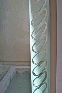 glass window etching glass borders style plants leaf border sans soucie