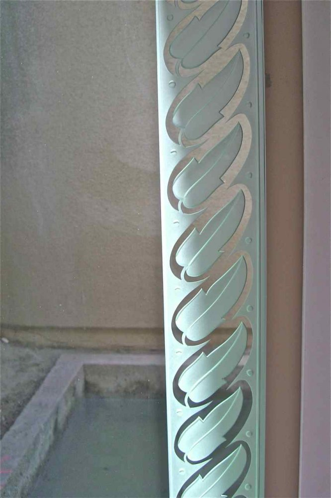 Leaf Border Glass Window Etched Glass Borders Style