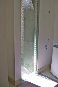 glass window sandblasted glass borders style leaves leaf border sans soucie