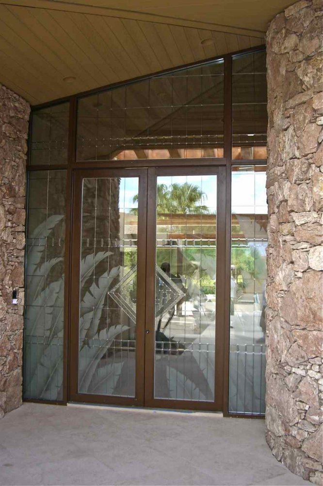 Tropical Grand Entry Glass Door Inserts Sans Soucie