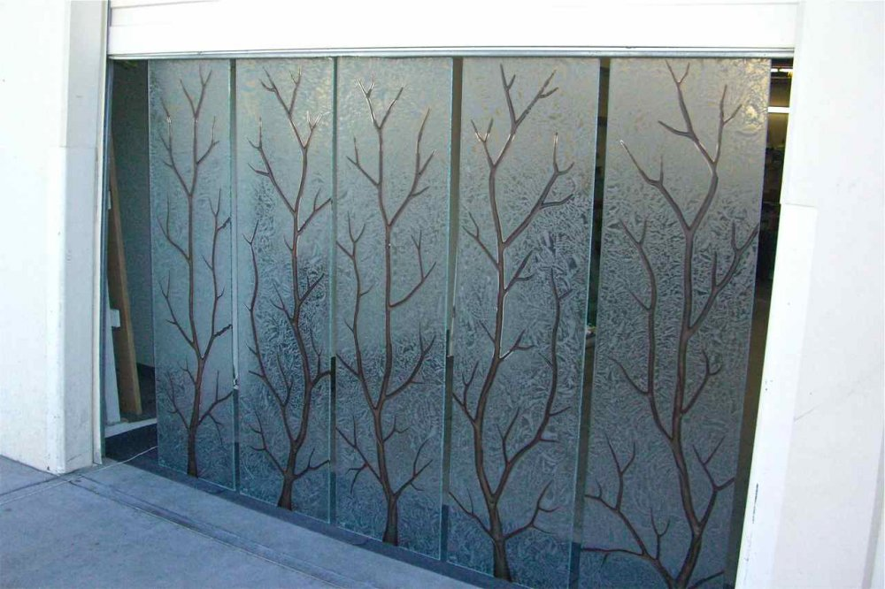 Branch out glass window etched glass rustic design for Window etching