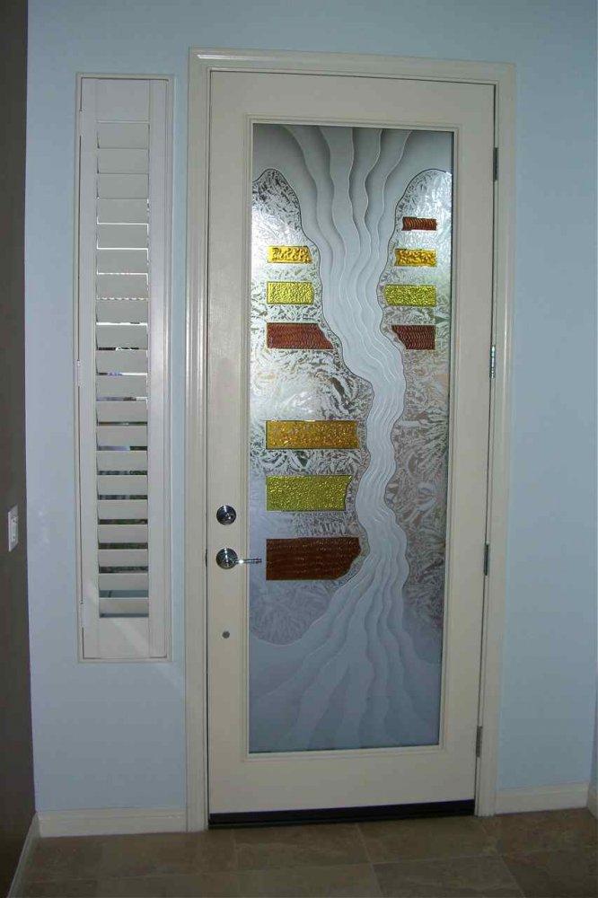Triptic I 3d Glass Door Inserts Sans Soucie