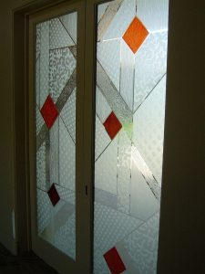 Geometric Pattern Frosted Glass by Sans Soucie