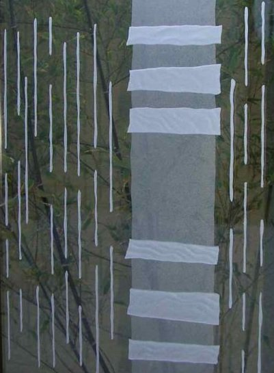 frosted glass etched pattern squares vertical lines