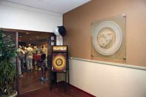 Glass Signs with Craved Etching U.S. Marine Corps Seal by Sans Soucie