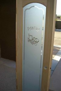 Pantry Door Etched Glass Sans Soucie