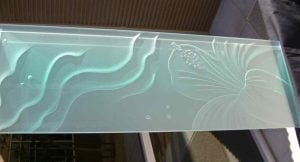 Partitions Enclosed with Carved and Etched Glass Oceanic by Sans Soucie