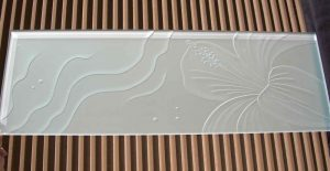 Partitions Enclosed with Frosted and Carved Glass Oceanic by Sans Soucie