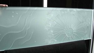 Sans Soucie Partitions Enclosed with Frosted and Carved Glass Oceanic