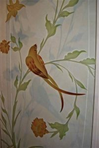 Sans Soucie Wall Art with Painted Etched and Carved Glass doves