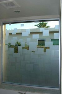 Glass Windows Carved Glass Modern cubes Sans Soucie