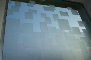 Glass Windows Etched Glass Geometric cubes Sans Soucie