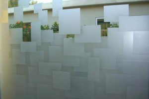 Glass Windows Carved Glass Geometric cubes Sans Soucie
