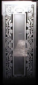 Entry Door Inserts with Etched and Carved Glass Traditional by Sans Soucie