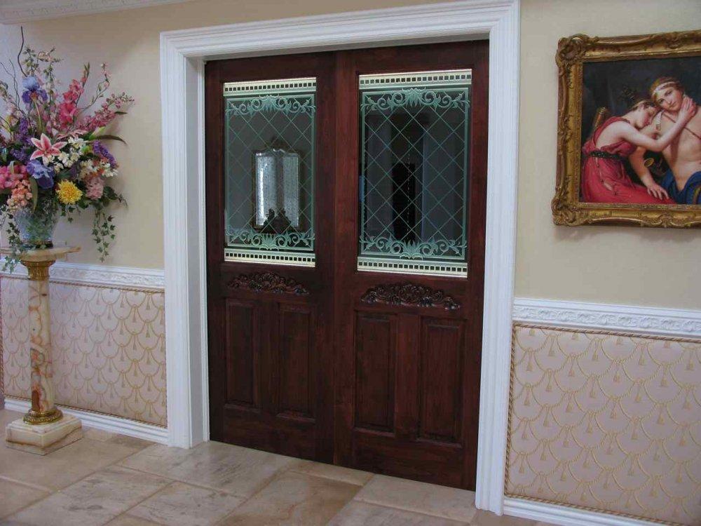 Filigree Lattice Glass Door Inserts Sans Soucie