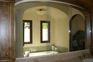 Custom Mirrors with Etched Glass Floral Borders by Sans Soucie