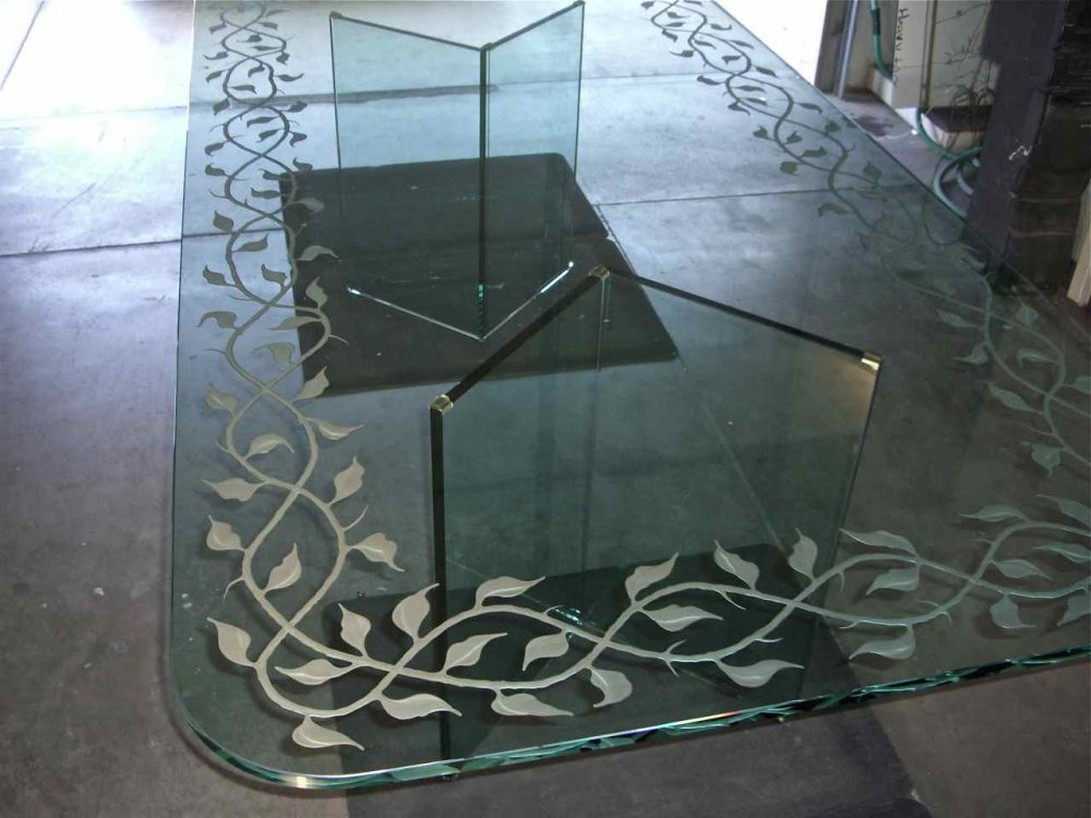 Elegant Vines Glass Dining Tables Sans Soucie