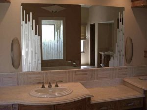 Custom Mirrors with Etched Glass Moroccan by Sans Soucie