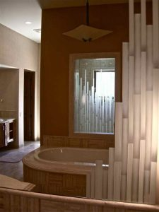 Custom Mirrors with Glass Etching Moroccan mosaic by Sans Soucie
