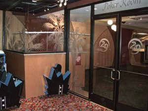 Sans Soucie Interior Doors and Windows with Etched Glass Poker Room