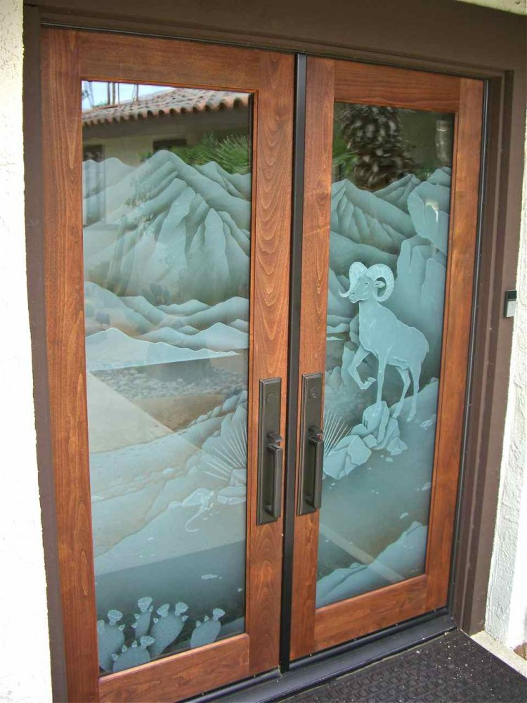 Bighorn Sheep 3d Glass Door Inserts Sans Soucie