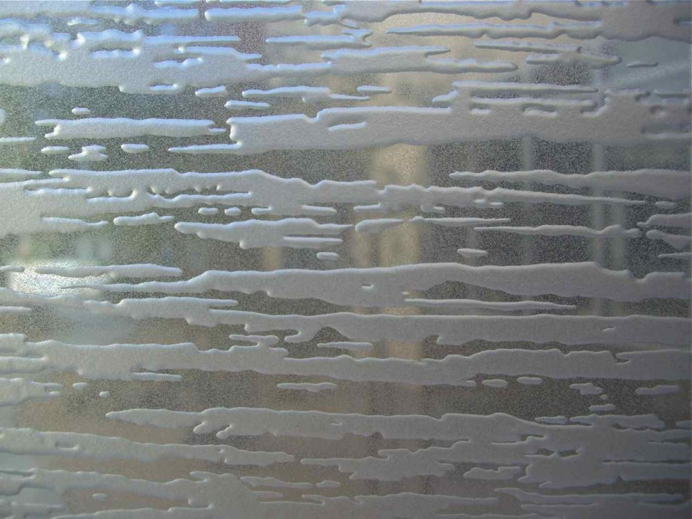 Carved Glass Pattern Tree Bark Carved Etched Glass By