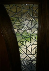 Front Door Inserts with Leaded Glass confetti by Sans Soucie