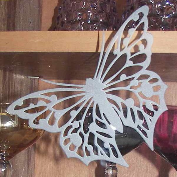 Etched 3d Carved Glass Butterfly Cabinet Glass Sans Soucie