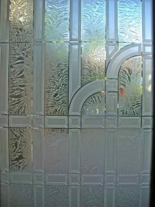 Front Door Inserts Caved and Etched Glass Art Deco Traditional by Sans Soucie