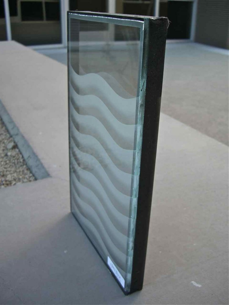 Dual Pane Glass Window Etched Glass
