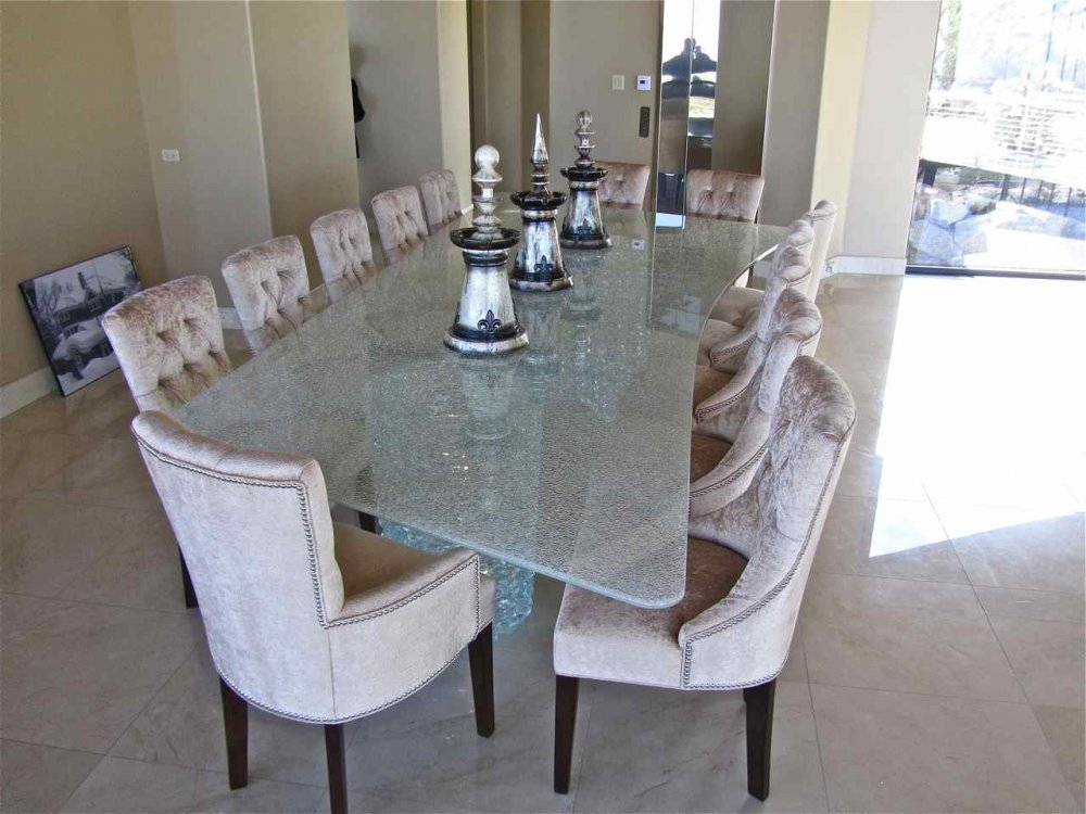 Dining Room Table Shattered Clear Glass By Sans Soucie