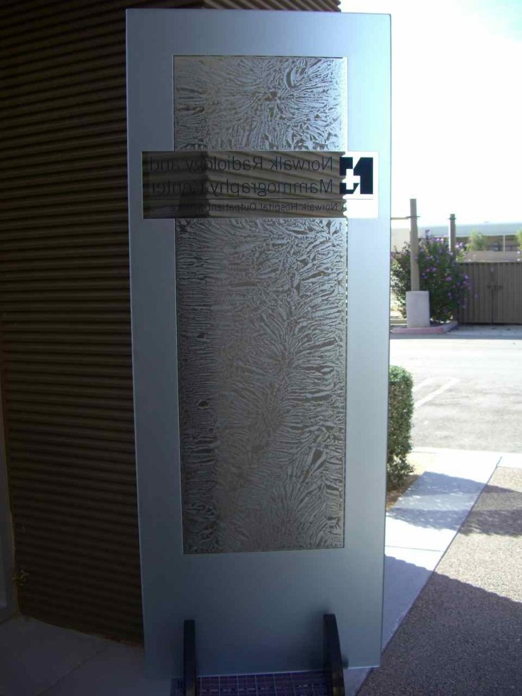 norwalk hospital radiology etched carved glass door sans soucie