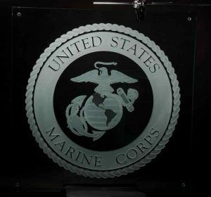 Etched Glass Signs U.S. Marine Corps Seal by Sans Soucie