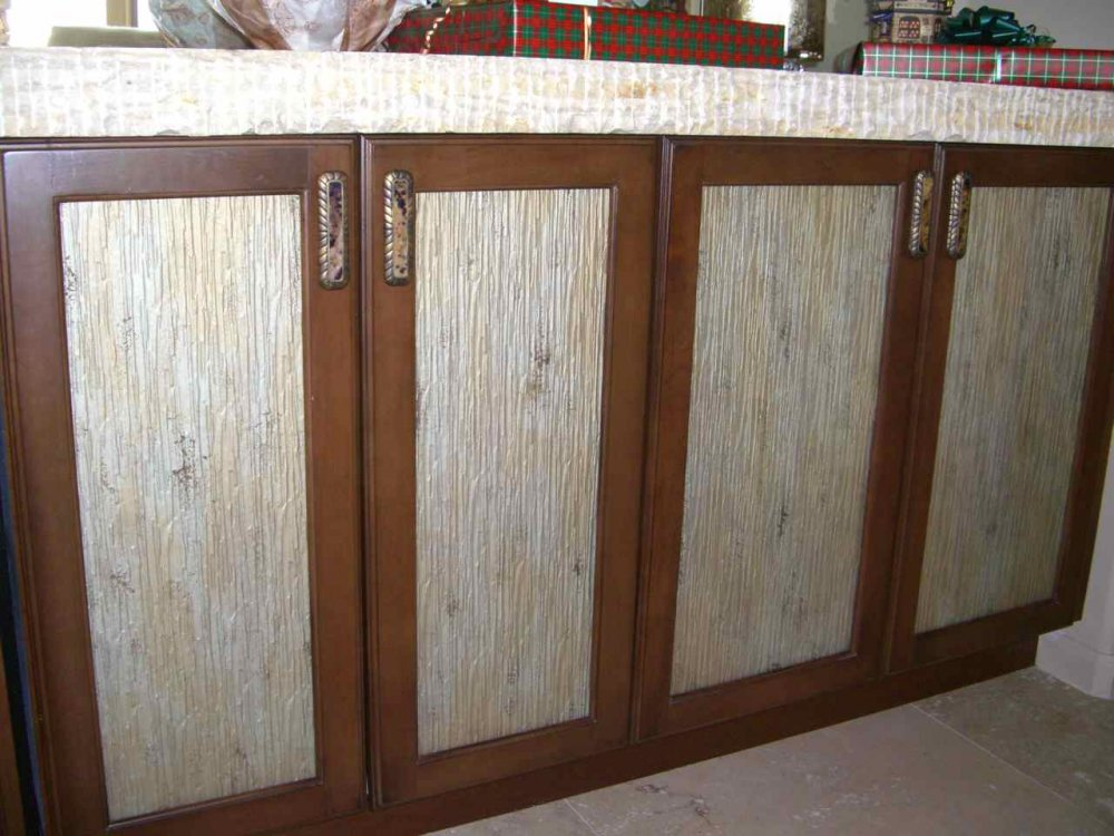 Cabinet Glass Textured Painted Custom Glass Cabinet Inserts
