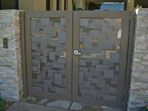 Gate Insert Panels with Glass Etching Contemporary by Sans Soucie