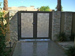 Gate Insert Panels with Etched Glass Contemporary by Sans Soucie
