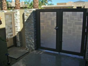 Gate Insert Panels with Frosted Glass Contemporary by Sans Soucie