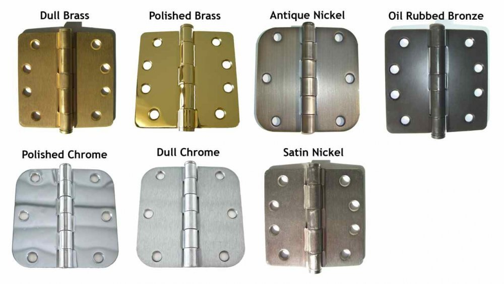 Hinge Finishes Available Standard Finishes Sans Soucie