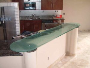 Kitchen Glass Bar Tops Gluechipped and Carved Rustic Eclectic by Sans Soucie